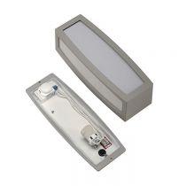 RENDL MERIDIAN BOX nástěnná se senzorem antracitová  230V E27 24W IP54 (230085)