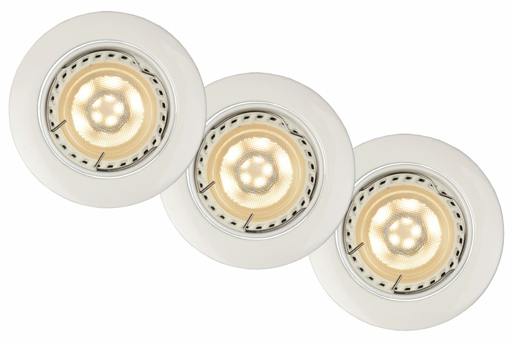 LUCIDE Spot Built-in Round LED 3xGU10/5W dimm 3 (11001/15/31)