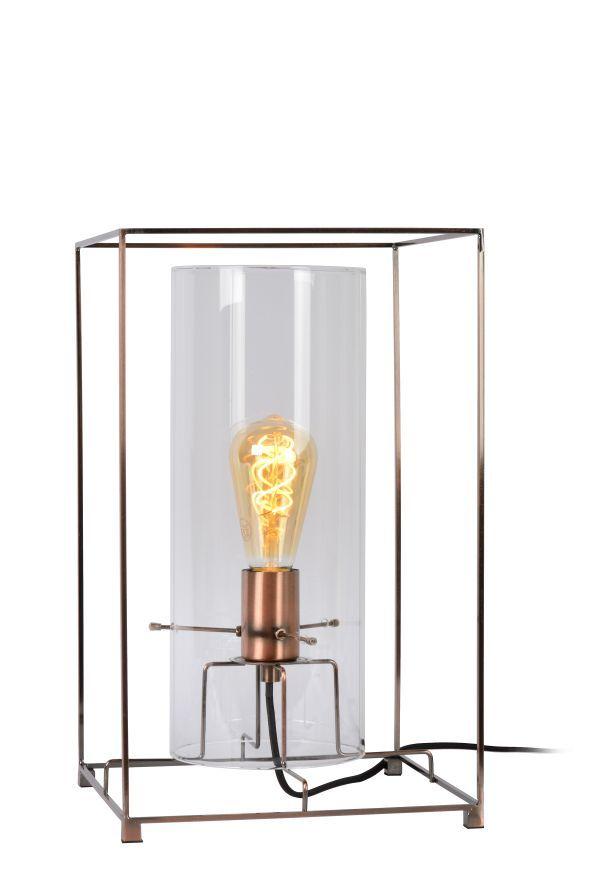 LUCIDE JULOT Table Lamp E27 25/25/40cm Copper (78586/01/17)
