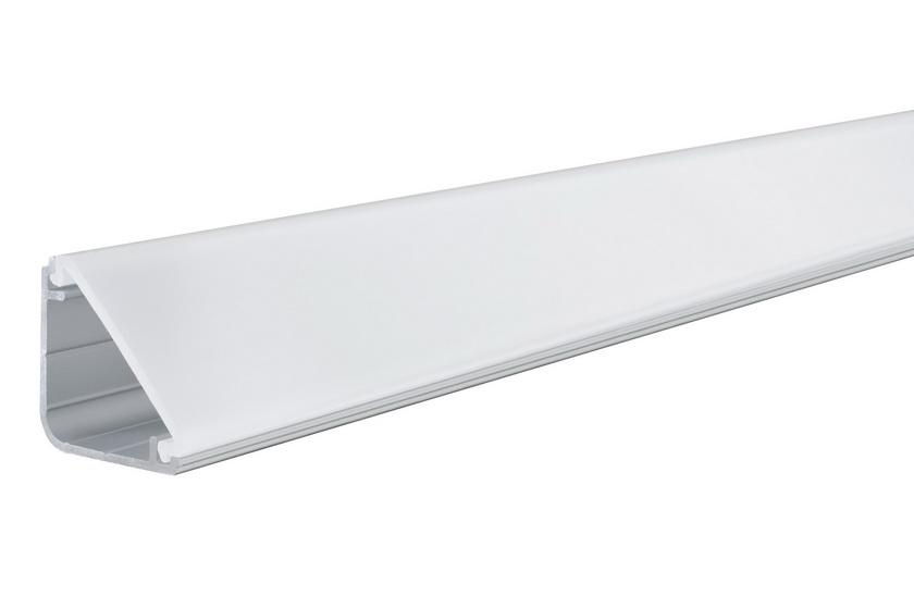 PAULMANN Delta Profil s diffusorem 2m eloxovaný hliník, satin, hliník/pla (70261)