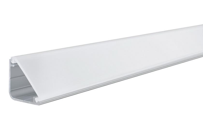 PAULMANN Delta Profil s diffusorem 1m eloxovaný hliník, satin, hliník/pla (70262)