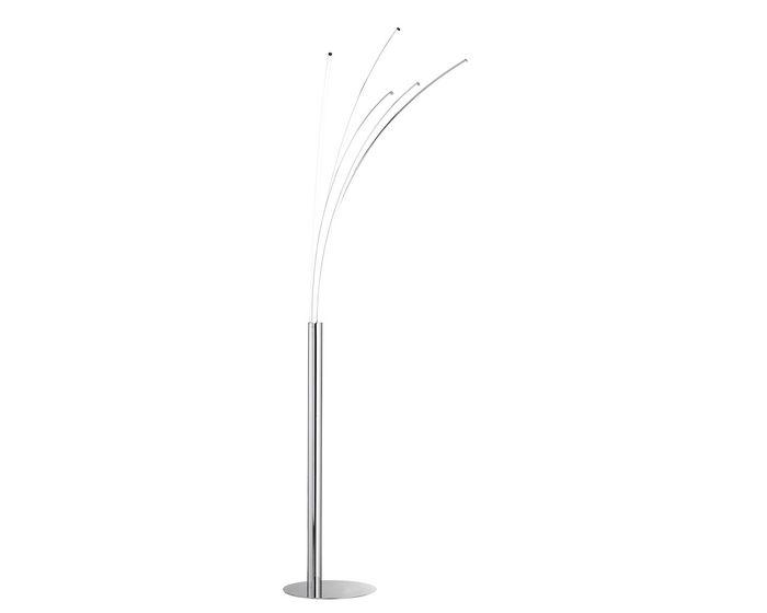 WOFI Stojací lampa Linee 5x7,2W 3000K LED chrom (3194.05.01.6000)