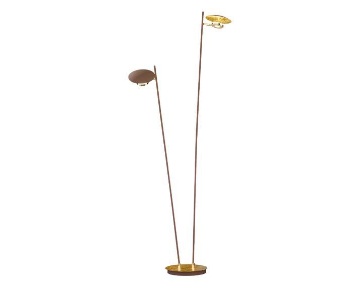 WOFI Stojací lampa Nogan 2x 4,5W LED 400lm 3000K zlatá (3279.02.15.6000)