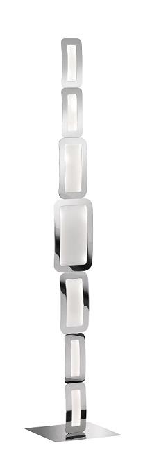 WOFI Stojací lampa Saga 1x30W 3000K LED chrom (3526.07.01.6000)