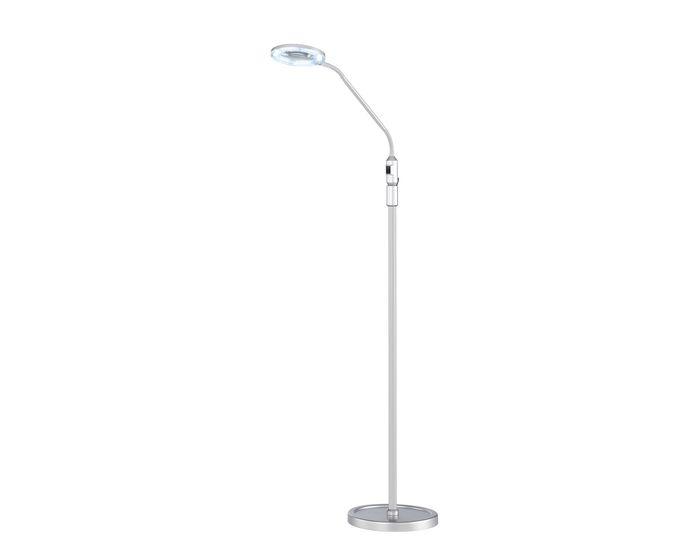 WOFI Stojací lampa LAUREL 1 x 4W,4,000 K / 420 lm, stříbrná ACTION (370801700000)