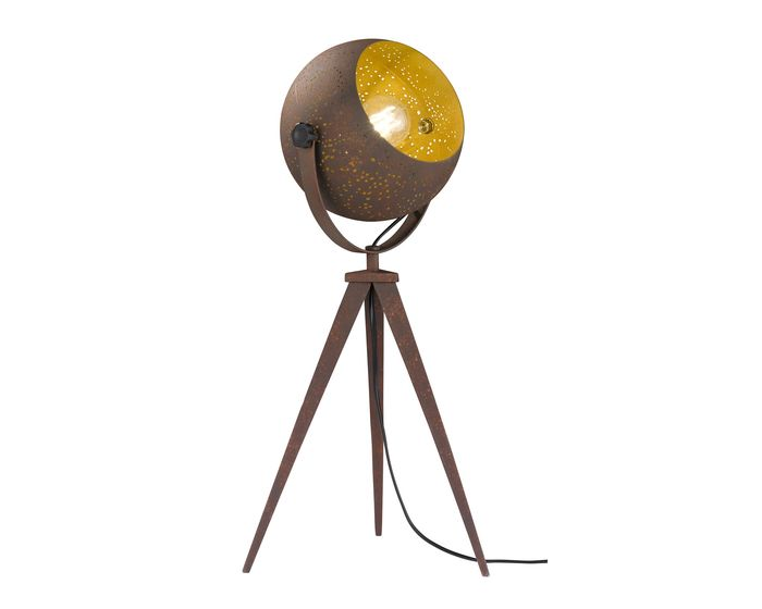 WOFI Stolní lampa Avila 60W E27 antická hnědá (840301097000)