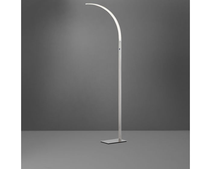 WOFI Stojací lampa LUZ 1x LED 16,8 W matný nikl (3682.01.64.0000)
