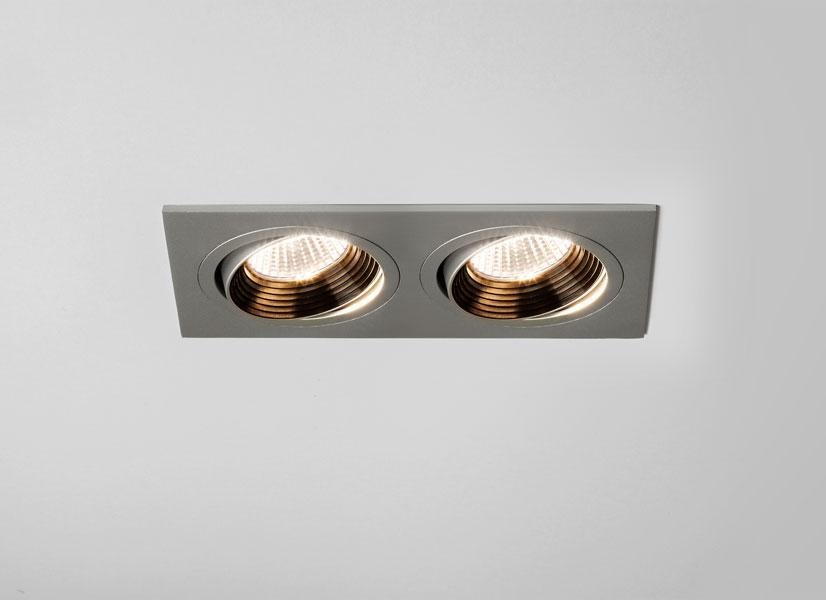 ASTRO Aprilia Twin Adj. Silver LED Downlight (1256002)