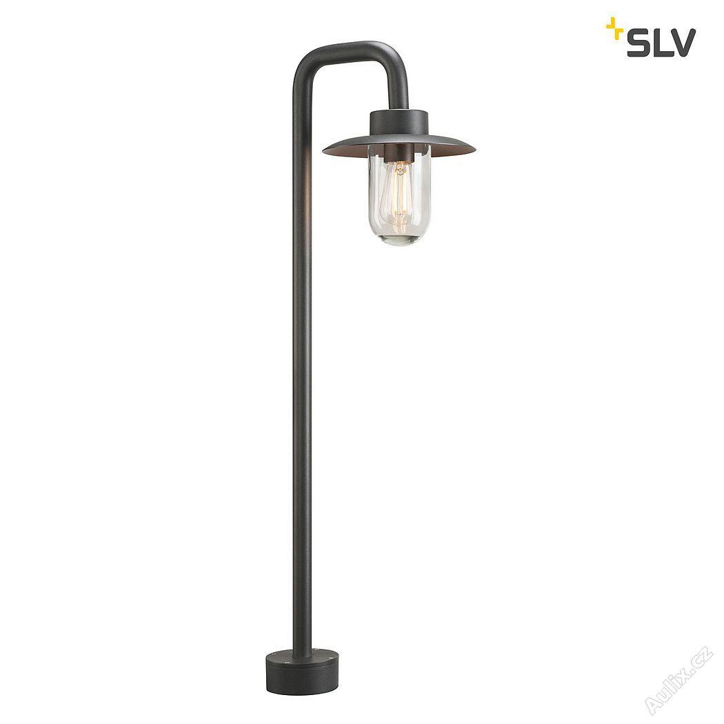 SLV MOLAT POLE, venkovní stojací světlo, E27, antracit, max. 60W, IP44 (1000822)