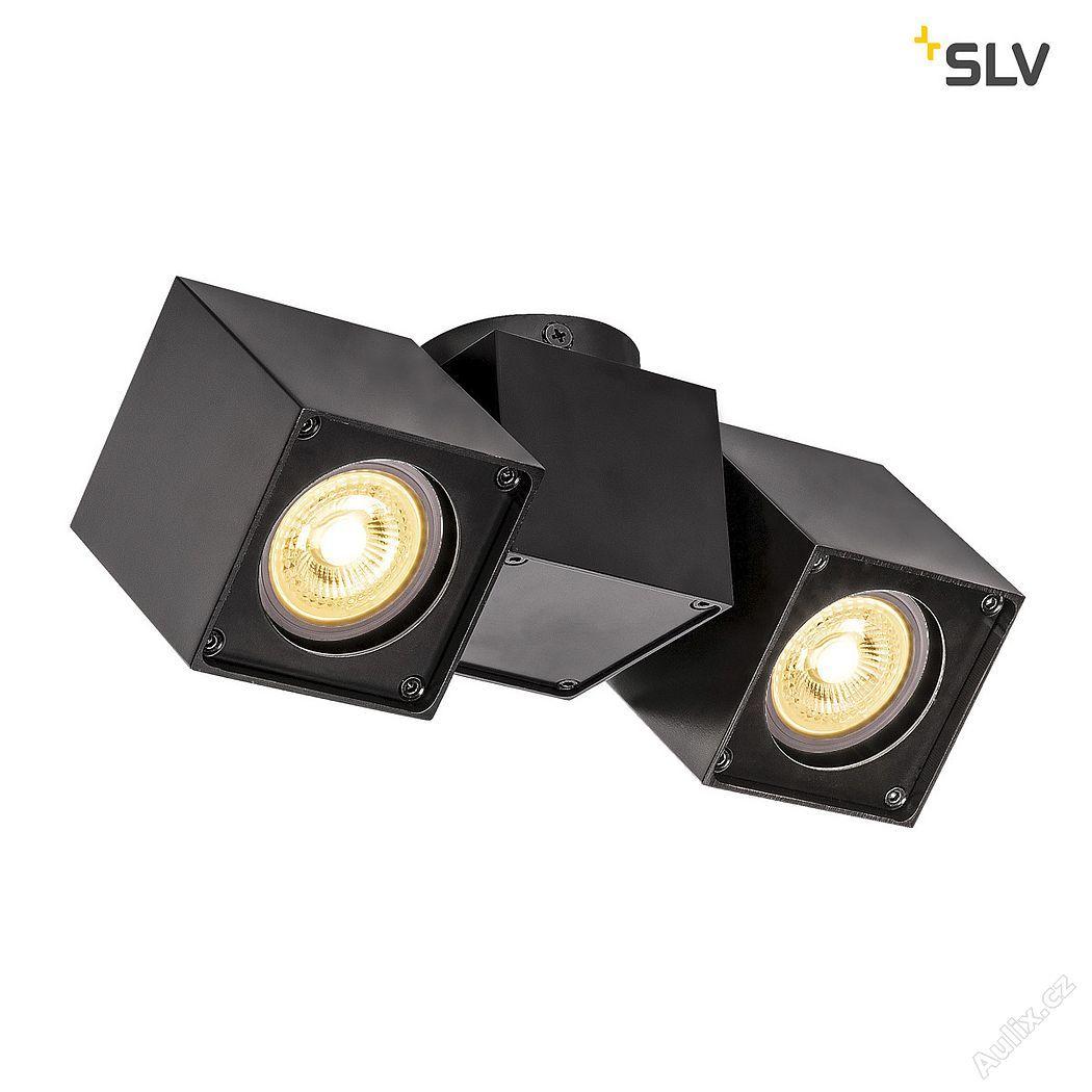 SLV ALTRA DICE CW, vevnitř nástěnné a stropní nástavbové svítidlo, double, QPAR51, černá (1002215)