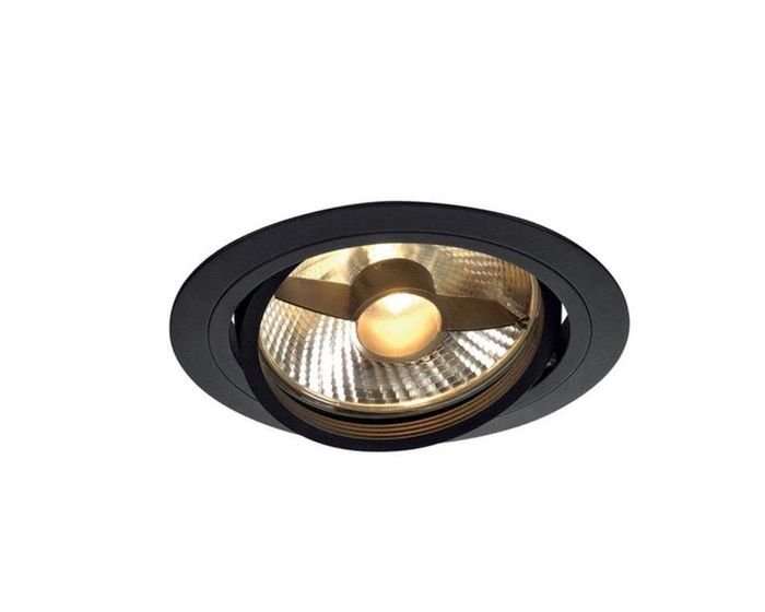 SLV NEW TRIA I ES111 kruhová matná čierna 230V GU10 75W (113550)