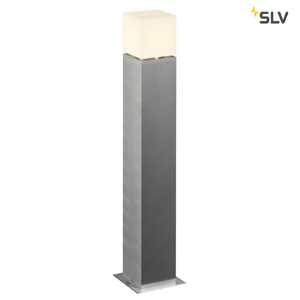 SLV SQUARE POLE 90 LED, venkovní stojací lampa, ušlechtilá ocel 316, 3000K, IP44 (1000418)
