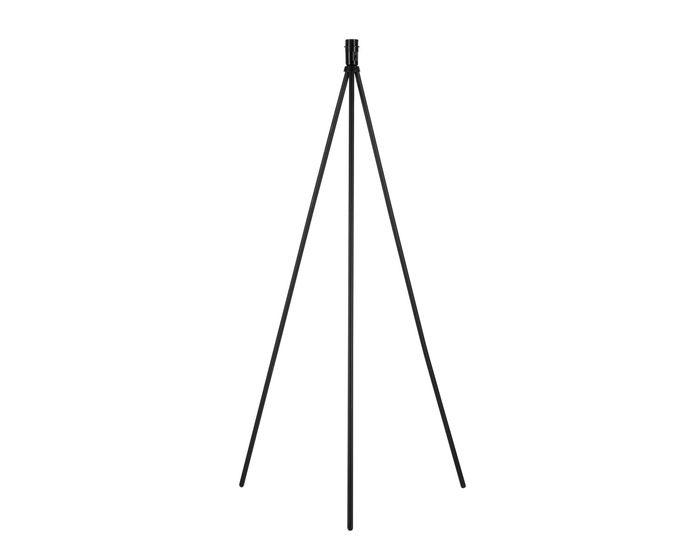 SLV Stojací lampa FENDA E27, čierna matná, bez stínítka (155490)
