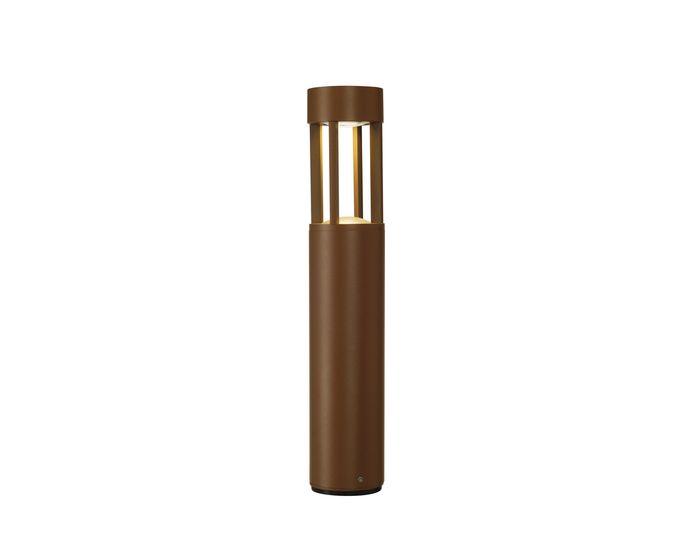 SLV Stojací lampa SLOTS 45, rezavá barva 6,3 W LED, teplá bílá (231817)