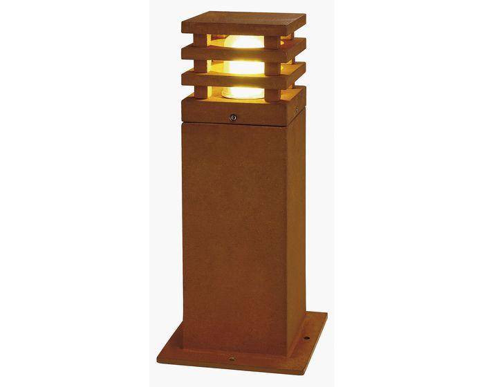 SLV RUSTY 40 LED SQUARE, rezavé železo, LED 3000K (233427)