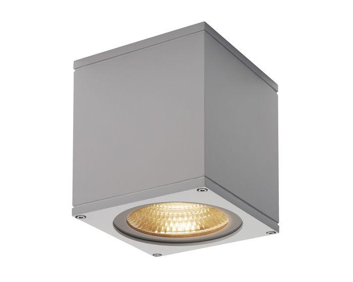 SLV BIG THEO CEILING venkovní stropní svítidlo LED 3000K stříbrošedé (234534)
