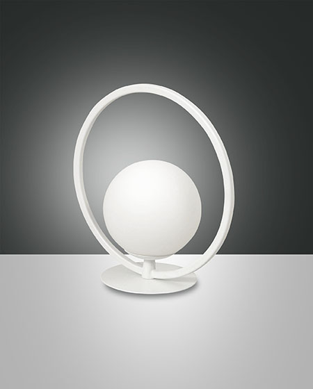 FABAS SIRIO CIRCLE TABLE LAMP WHITE (3388-30-102)