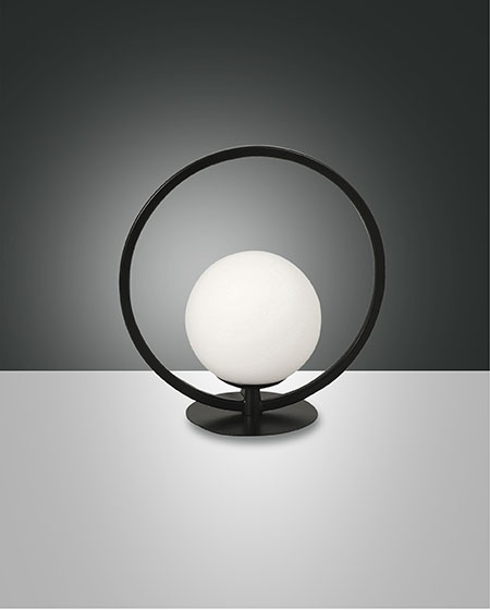 FABAS SIRIO CIRCLE TABLE LAMP BLACK (3388-30-101)