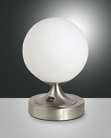 FABAS PERLA TABLE LAMP SATINED NICKEL (3477-30-178)