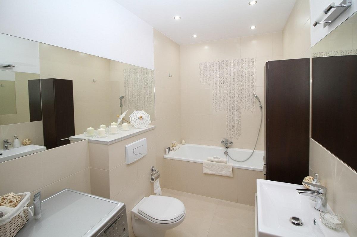 Osvetlenie kúpeľne - stropné bodové svietidlá