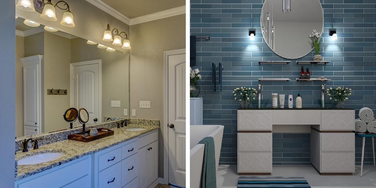 Svietidlá do kúpeľne - vintage vs. moderné
