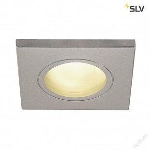 SLV DOLIX OUT, venkovní vestavné svítidlo, QR-C51, IP 65, hranaté, stříbrošedé, max. 35W, vč. upínacích pružin