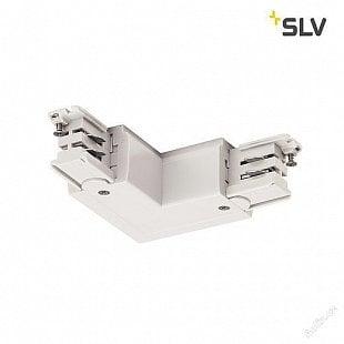 SLV L spojka pro vysokonapěťovou 3fázovou montážní kolejničku S-TRACK, země vně, dopravní bílá