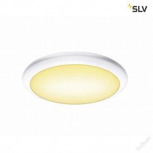 SLV RUBA 10 CW, LED, venkovní nástěnné a stropní nástavbové svítidlo, bílá, IP65, 3000/4000K
