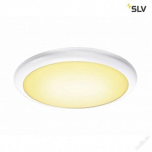 SLV RUBA 20 CW, LED, venkovní nástěnné a stropní nástavbové svítidlo, bílá, IP65, 3000/4000K
