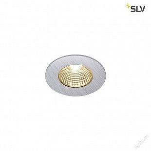 SLV PATTA-I, LED venkovní svítidlo k zabudování do stropu, kulaté DL IP65 stříbrná 1800-3000K