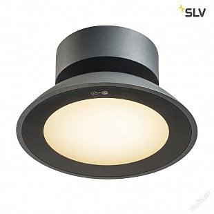SLV MALU CL, LED venkovní stropní nástavbové svítidlo, antracit, IP44, 3000K