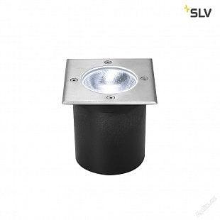 SLV ROCCI Square, LED venkovní podlahové zapuštěné svítidlo, ušlechtilá ocel 316, 4000K, IP67, 8,6W