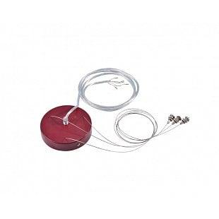 SLV Závěsná sada pre 1–10V MEDO LED, vínově červená, 5žilový kabel