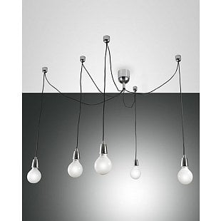 FABAS BLOG SUSPENSION LAMP CHROMED 5 LIGHTS