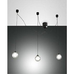 FABAS BLOG LED SUSPENSION LAMP BLACK 3 LIGHTS