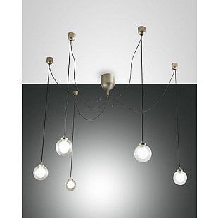 FABAS BLOG LED SUSPENSION LAMP GOLD MATT 5 L.