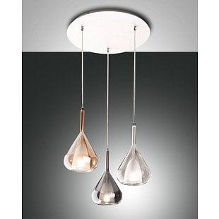 FABAS LILA SUSP.LAMP AMBER TRANS.GREY,TRANS.