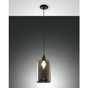 FABAS SILO SUSPENSION LAMP TRANSPARENT GREY