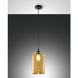 FABAS SILO SUSPENSION LAMP AMBER