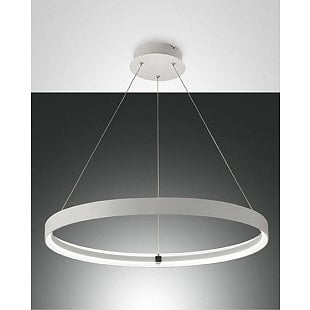 FABAS DOUBLE SUSPENSION LAMP WHITE D.700