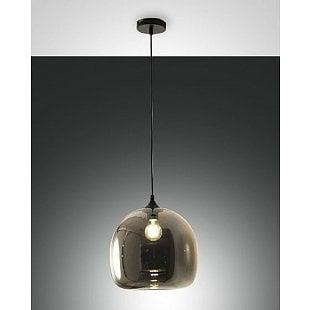 FABAS MAIA SUSPENSION LAMP TRANSPARENT GREY